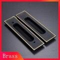 Американский стиль латунные раздвижные дверные ручки  деревянные скрытые черные дверные ручки для межкомнатных дверей