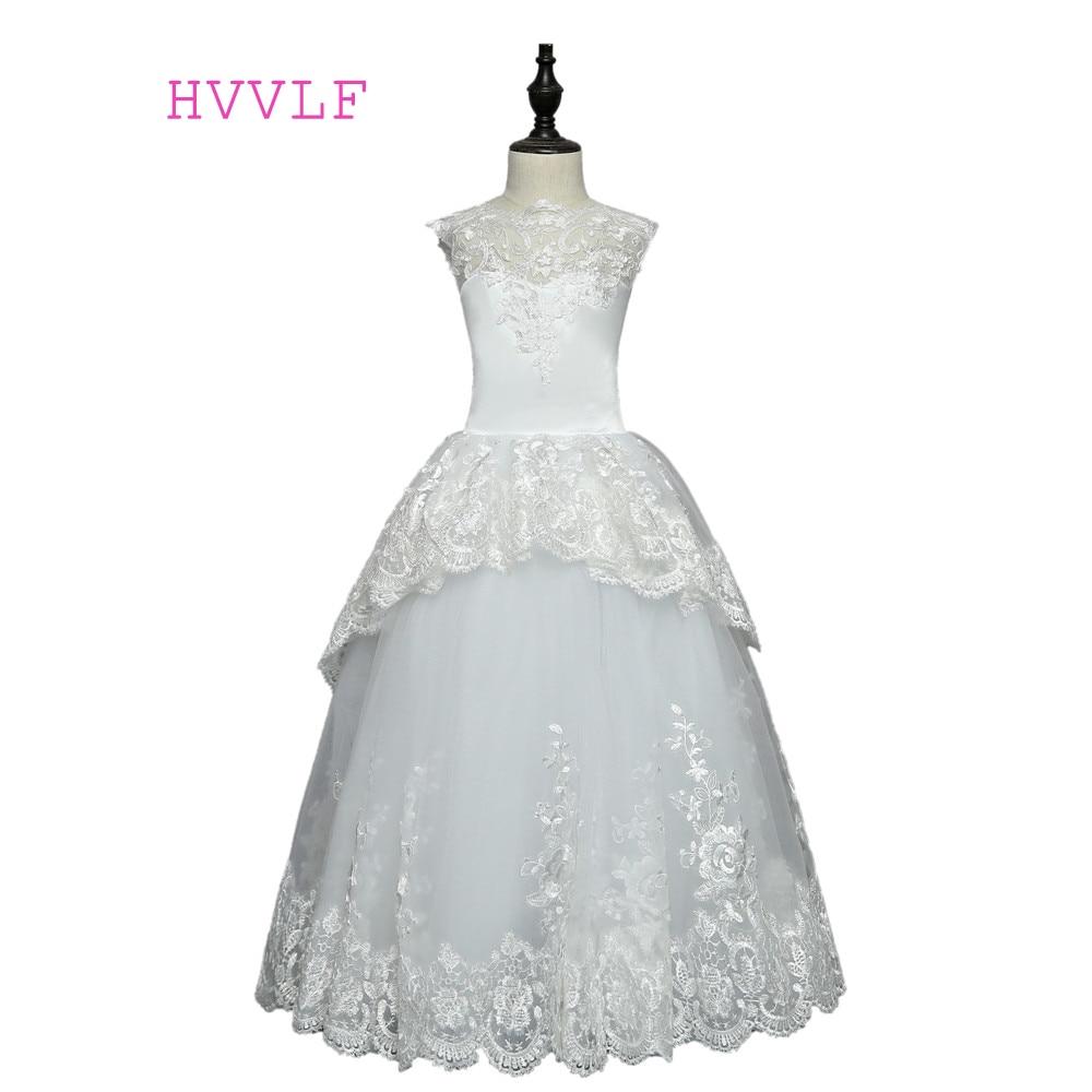 Backless 2018 Flower Girl Dresses For Weddings Ball Gown Cap Sleeves ...