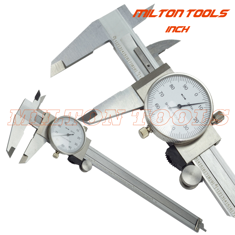 """6/"""" DIAL CALIPER STAINLESS STEEL SHOCKPROOF .001/"""" OF ONE INCH."""