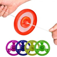50pcs/pack Pull line Flash flywheel Glow gyro kids birthday party gift girl boy souvenirs outdoor toys Funny toys Luminous Toys