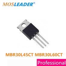 Mosleader MBR30L45CT MBR30L60CT TO220 50PCS MBR30L45 MBR30L60 MBR30L45C MBR30L60C High quality