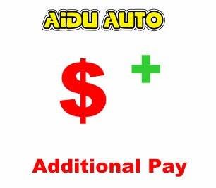 AIDU AUTO pago adicional en el costo de envío de tu pedido, costo remoto del lugar