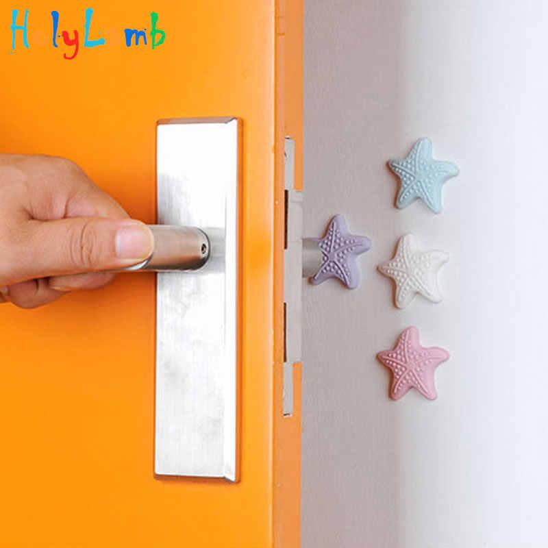 4 unids/lote, protección de Color aleatorio, amortiguadores de seguridad para bebés, tope de puerta de tarjeta de seguridad, protección de bloqueo para niños