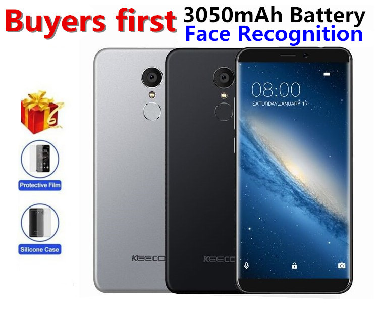 """KEECOO P11 4G LTE 18:9 5.7""""HD 1440*720 mobile phone MT6737 Quad Core Android 7.0 2GB RAM 16GB ROM 8MP Face Recognitio SmartPhone"""