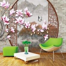 Пользовательские 3d обои китайские классические цветочные окна