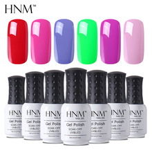 HNM 8ML 28 Colors Nail Polish UV LED Paint GelLak Soak Off Gelpolish Semi Permanent Stamping Hybrid Varnish Esmaltes Ink