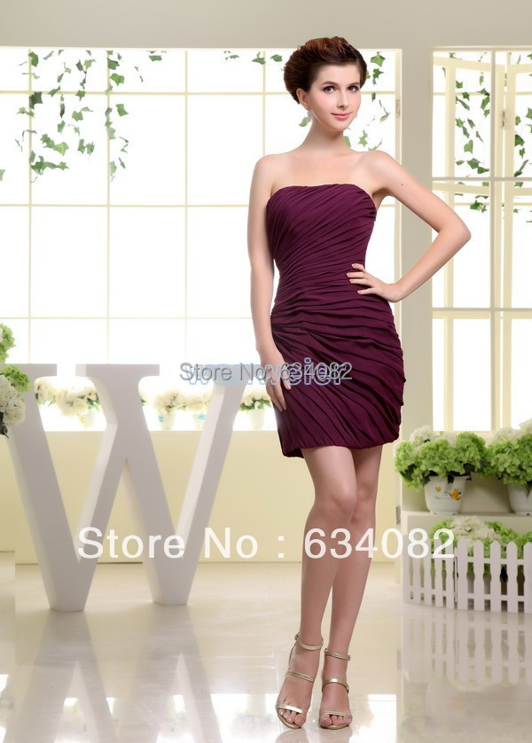 free shipping 2016 new Wrap Chiffon Special Offer Sexy for Women Real Photo Formales Modest short   Bridesmaids     dresses