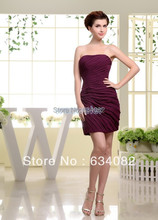 free shipping brides maid dresses 2013 sexy dress for fat women real photo vestidos formales short modest bridesmaids