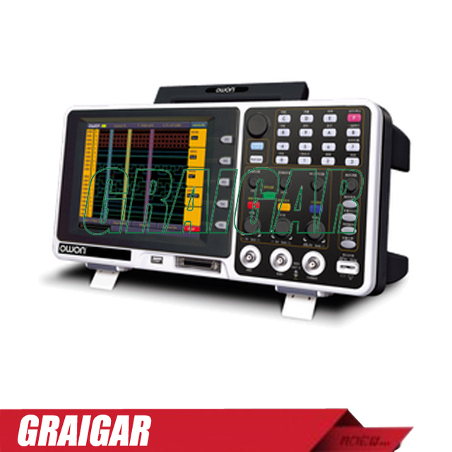 Best Offers Owon MSO8202T Digital Oscilloscope 200MHz digital channels 2 in 1 (DSO + LA) AND 8 inch color LCD  Sample rate 2GS/s