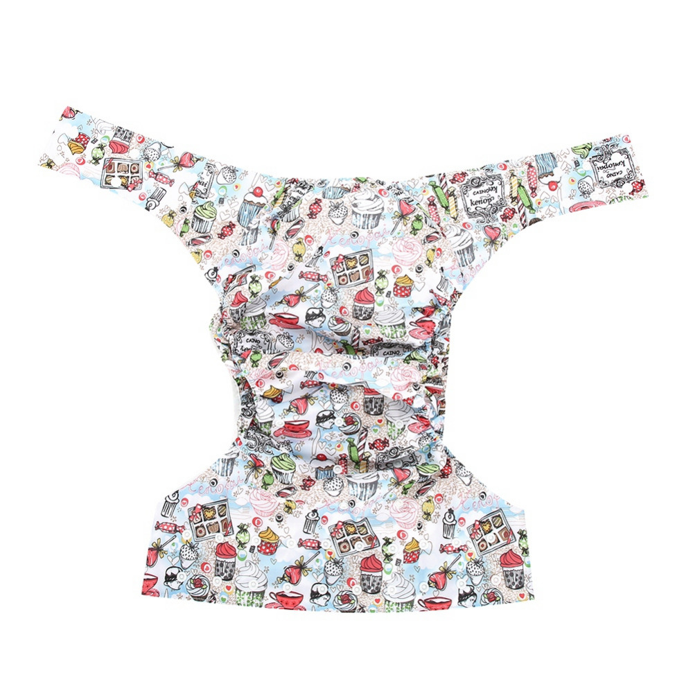 brand new Reusable PU Adult Cloth Diaper Washable Breathable Adjustable Pocket Adult Diaper for family hospital