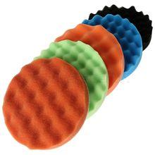 New 5Pcs 6inch/7inch 150,170mm Waffle Sponge Polishing Foam Buffing Pads Kit For Car Polisher Soft Wave Pad Wash
