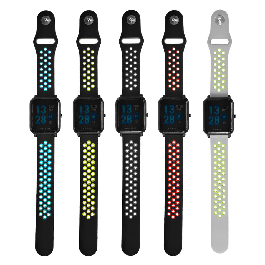 20mm Silicone Watchband Strap For Amazfit Bip Replace Wristband Bracelet For Xiaomi Huami Amazfit Bip Youth Watch Accessories