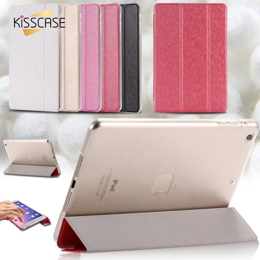 KISSCASE mini1 mini2 mini3 Stand Case Elegant Slim Smooth Silk Leather Case For ipad mini 1