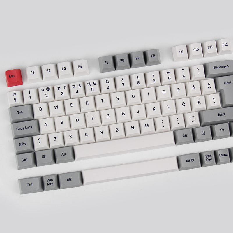 Kbdfans Nordic Layout Pbt Keycaps  Iso Cherry Profile MAC Keys  Gaming Mechanical Keyboard Dye-subbed Keycap  Sublimation Keycap