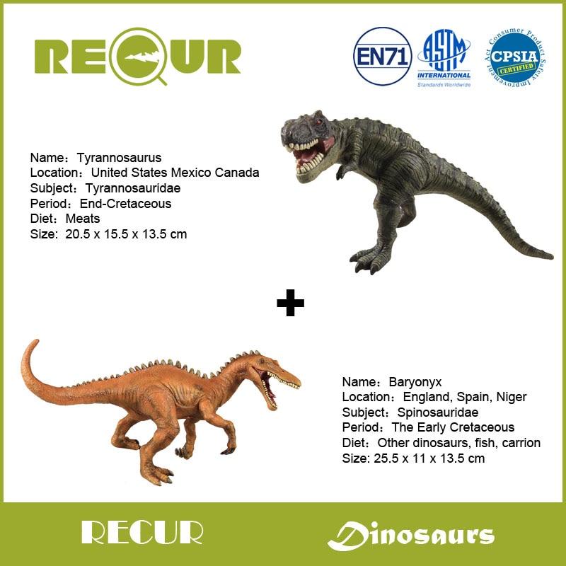 Ξ2 unids/lote Repita Juguetes Baryonyx + Tyrannosaurus Modelo ...