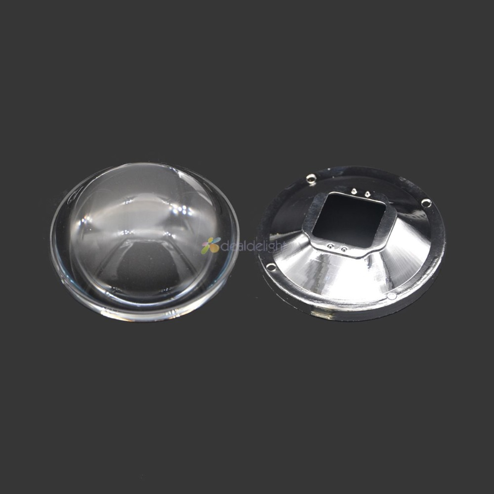 78mm Przezroczysty reflektor optyczny ze szkła LED 5-90 stopni + 82mm uchwyt obiektywu do lampy LED o dużej mocy
