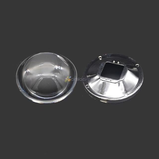 Freeshipping!78mm Transparent Led Optical Glass Lens Reflector 5-90 Degree + 82mm Lens Holder for High Power LED  Lamp Light