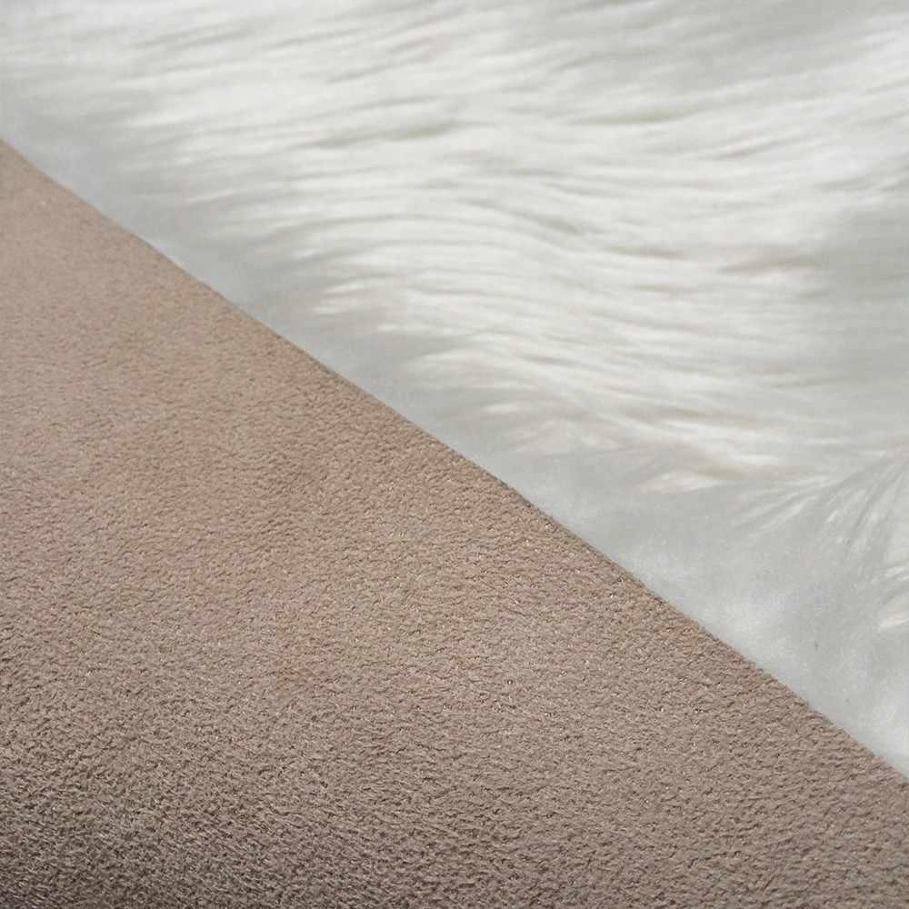 RAYUAN 白ラグジュアリー長方形シープスキン毛深いカーペットフェイクマットシートパッド毛皮無地ふわふわソフトラグマット Tapetes