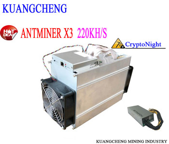 The used 80-90%new CrptoNight Miner Antminer X3 220KH/s 500W (with psu) Mining CryptoNight ASIC Miner KRB ETN XMC DCY BCN etc