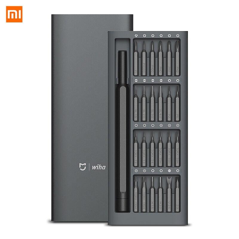 Original Xiaomi Mijia Wiha 24 en 1 de precisión de 60HRC Bits magnéticos Xiaomi casa Kit de herramientas de reparación de Xiomi mijia