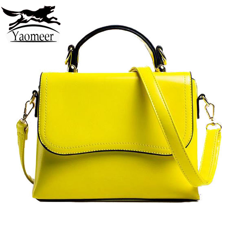 Luxury Handbags Women Bags Designer High Quality Pu Leather Shoulder Crossbody Bag Female Solid Yellow Small Tote Famous Brand small luxury handbags women bags designer pu leather messenger shoulder bag ingle straps satchel crossbody mini tote 2017