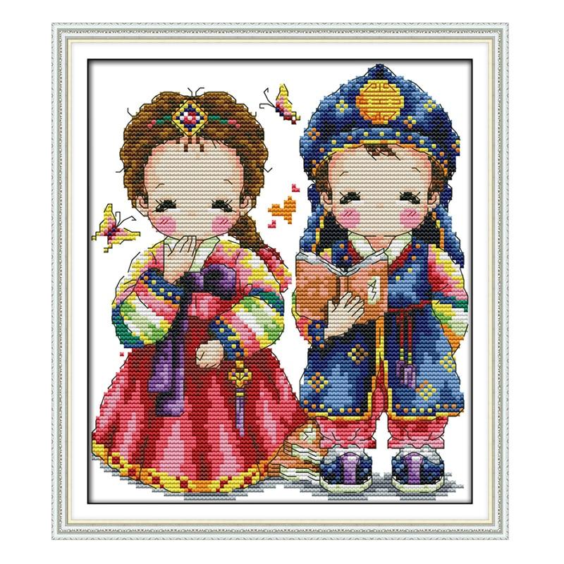 Öröm vasárnap kínai keresztszemes készletek DIY koreai esküvői - Művészet, kézművesség és varrás