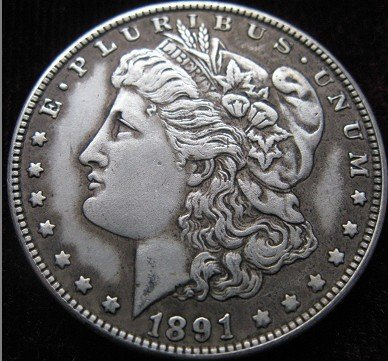 wholesale Morgan1891-CC coins plated-silver Coin Copy 90% coper manufacturing old+f