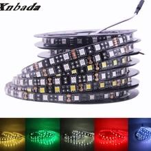 Xnbada Led Strip 5050 DC12V 60Led/m,5M/Roll Black PCB Led Light IP30 Non Waterproof