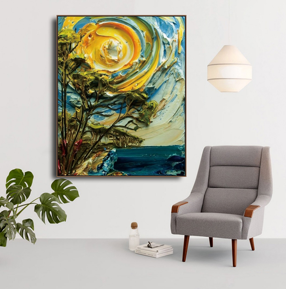 Stereoscopic Scenery Art Canvas Painting Calligraphy Decoration Pictures For The House Living Room Bedroom Home Wall Art in Painting Calligraphy from Home Garden