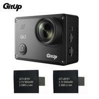 Gitup Git2 Камера Спорт Cam Full HD 1080 P 2 К 30fps Wi Fi действие Камера Новатэк 96660 Открытый DV + 2 шт. дополнительные 950 мАч Батарея