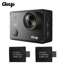 Gitup Git2 Camera Sports Cam Full HD 1080P 2K 30fps WiFi Action Camera Novatek 96660 Outdoor DV + 2Pcs Extra 950mAh Battery
