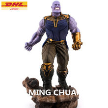"14 ""estátua Vingadores Thanos Infinito Busto Guerra Megamind Full-Length Retrato GK Action Figure Collectible Modelo Toy BOX 38 CM Z201(China)"