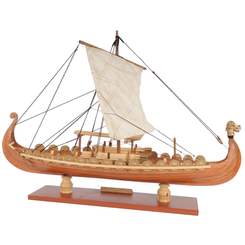 Wooden Sailing Boat Model Drakkar Dragon Viking Classic Sailboat Assembly Ship Model Building Kits DIY Toy Decoration Gift цена