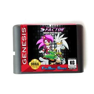 Image 1 - S Faktörü Sonic Ve Gümüş 16 bit MD Hafıza Kartı Sega Mega Sürücü 2 SEGA Genesis için Megadrive