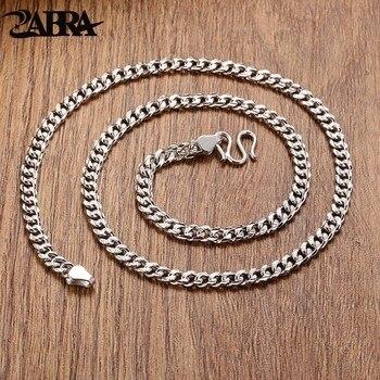 888c89328696 ZABRA 925 Plata de Ley hombres pulsera Vintage líneas de trigo joyería  hecha a mano motorista hombre regalo cadena eslabones joyería hombre