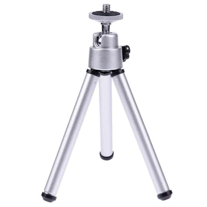 Mini Portable Table Tops Tripod Aluminum Lightweight with 1/4 Screw Ball Head Mobile Phone Clip Protector Cap for Camera Phone