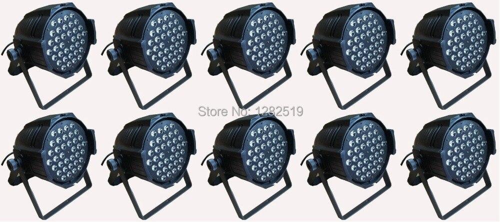 Free shipping:10pcs 54*3W RGBW PAR LED DJ dance party stage lighting stage par64 lighting