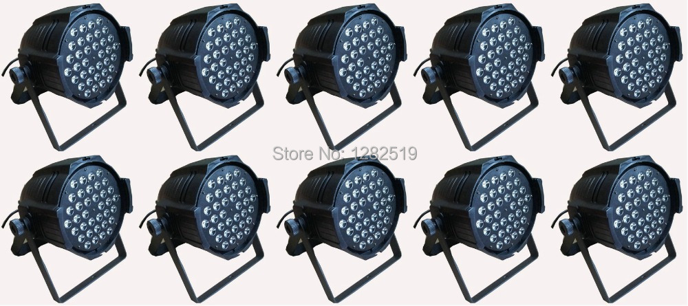 Free shipping:10pcs 54*3W RGBW PAR LED DJ dance party stage lighting stage  par64 lighting free shipping 2 lot 18x10w led par64 led par 64