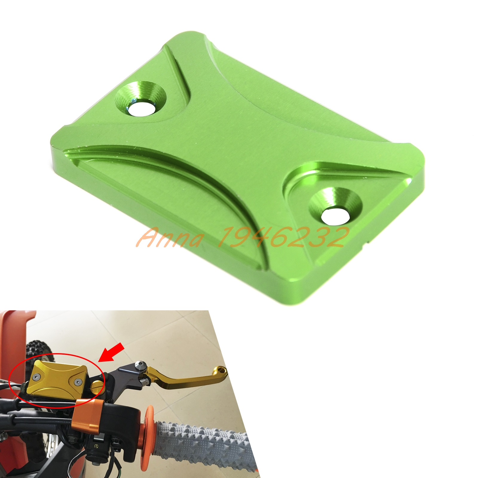Motorcycle Brake Reservoir Cylinder Cover For Kawasaki KLX/KLF/KDX/ATV KVF 125-700/ NINJA 250R Z300 BRUTE FORCE 750