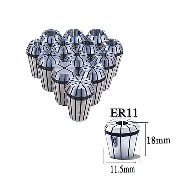 Full 13pcs lot (13sizes 1mm to 7mm) ER11 collet chuck ER11 collet for cnc router kit