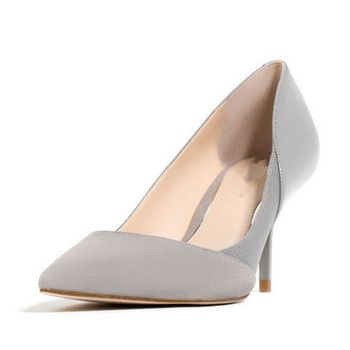Women Mixed Color High Heel Pointed  Wedding Party Office Shoes