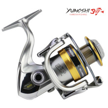 YUMOSHI New 13+1BB fish ratio 5.5:1 1000-7000 Series Spinning Fishing Reel 12KG Max Drag Sea Boat Spinning Fishing Reel