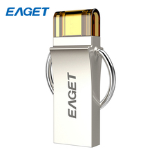 EAGET Steel USB Flash Drive 32GB OTG Mini USB three.zero Pendrive 16GB Micro Reminiscence U Disk Storage Flash Stick 64GB For Android PC V90