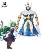 ROLECOS LOL Starchild Soraka Cosplay Costume Star Guardian LOL Cosplay Brand Game Costumes Magica Full Set