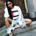 3 color Nuevo llega Caliente letras impresas con capucha Chaquetas de lana de las mujeres ropa sexy calle colegio sudaderas swag ropa sexy