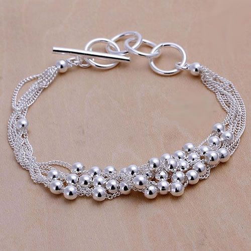 H101 Hot sale fine silver plated jewelry,Wholesale Factory price 925 charms free