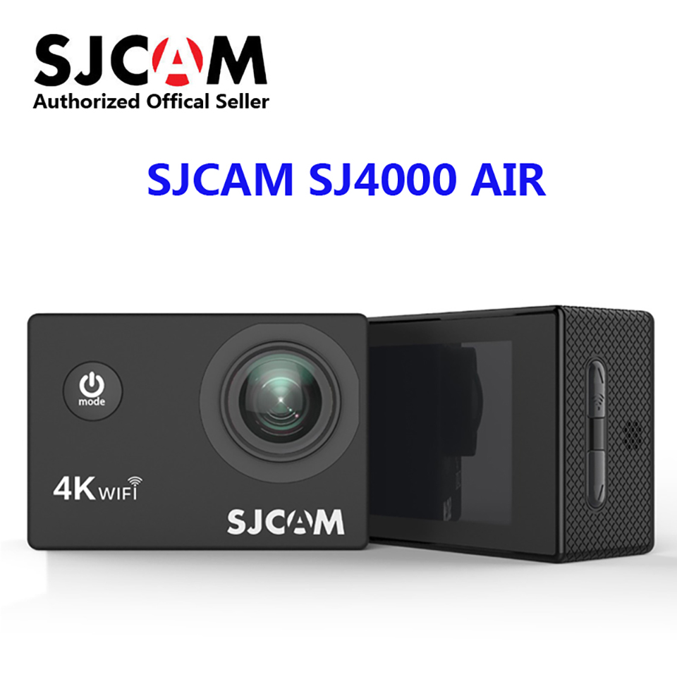 2018 New ~ Original SJCAM SJ4000 AIR 4K Action Camera Full HD 4K 30fps WIFI 2.0 Screen Mini Helmet Waterproof Sports DV Camera