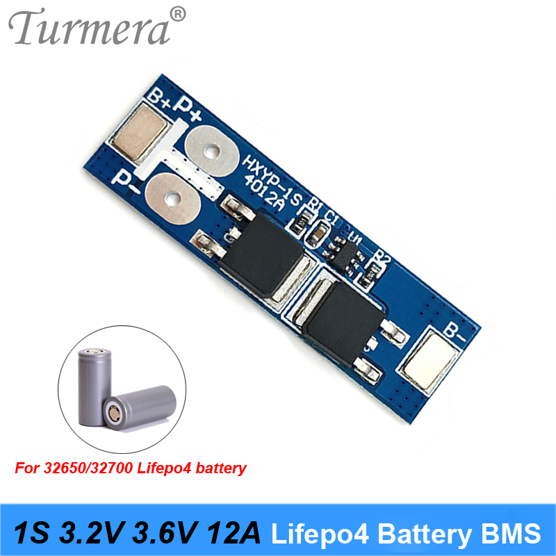 Single Pack 1S 12A 3.2V BMS Protection Board Fr 18650 LiFe LiFePO4 Battery Cell