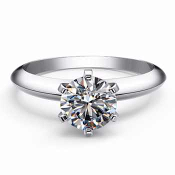 6.5mm Classic T Brand Test Positive Moissanite Diamond 6 Prongs Setting Solid Platinum 1Carat Ring Engagment Jewelry Pt950