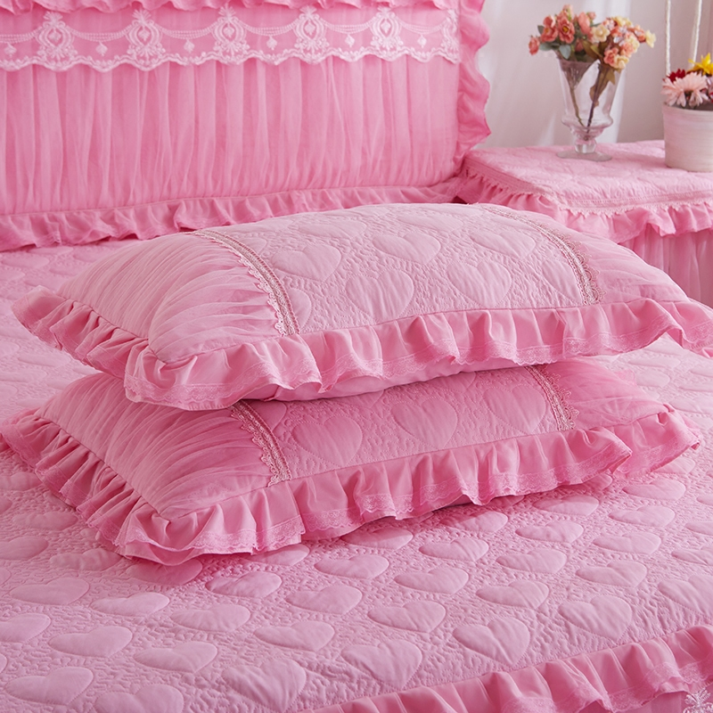 Luxury 2pcs 48x74cm Solid Color Pillow Covers Rectangle